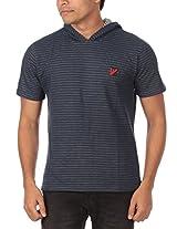 Rampwaq Men's Polo (RWPLSTR012_L_Blue_Large)