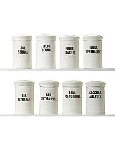 Zingaro Set of 8 Medium Ceramic Apothecary Jars