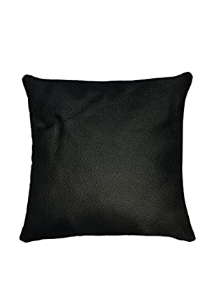 Sienna Leather Pillow, Black