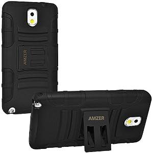 Amzer 96323 Hybrid Kickstand Case for Samsung Galaxy Note 3 (Black)