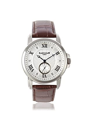 Earnshaw Men's 8021-02 Fitzroy Brown/White Stainless Steel Watch