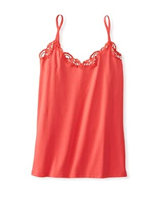 Only Hearts Women's Delicious with Lace Deep V Camisole (Poppy)
