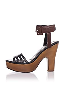MARNI Women's Ankle-Strap Platform Sandal (Saddle Brown)