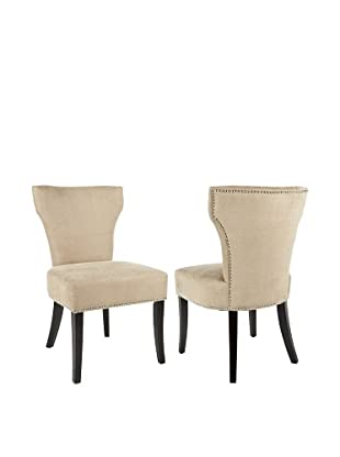 Safavieh Set of 2 Jappic Side Chairs, Wheat