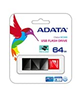 ADATA UC340 64GB USB 3.0 Push to Open and Fast Read Speed up to 100MB/s Flash Drive, Red (AUC340-64G-RRD)