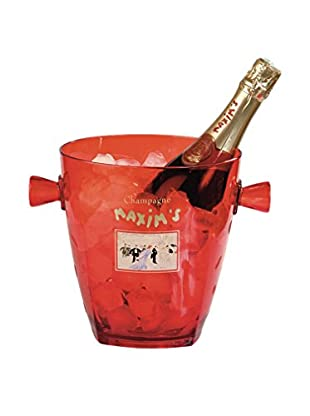 Maxim's de Paris Red Lucite Champagne Bucket