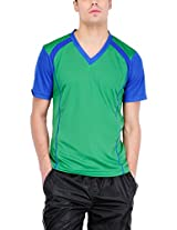 Yepme Men's Multi-Coloured Sports Polyester T-shirt -YPMTEES0297_M