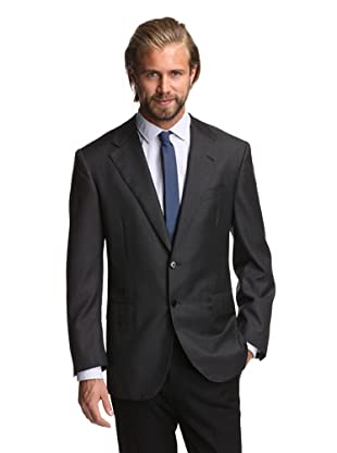 Oxxford Men's 1220 Herringbone Suit (Charcoal)