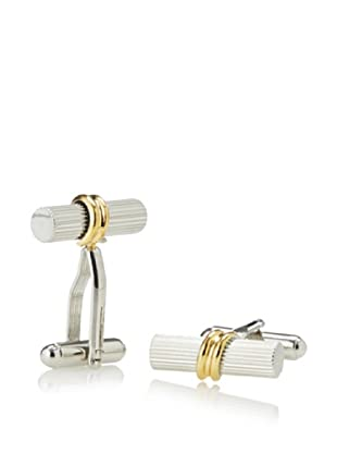 Link Up Two-Tone Tube Wrap Cufflinks