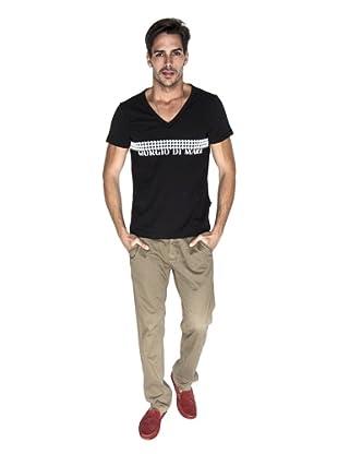 Giorgio Di Mare Camiseta Plato (Negro)
