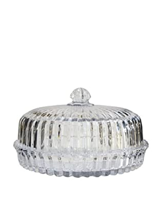 Crystal Clear Alexandria Domed Pie Plate