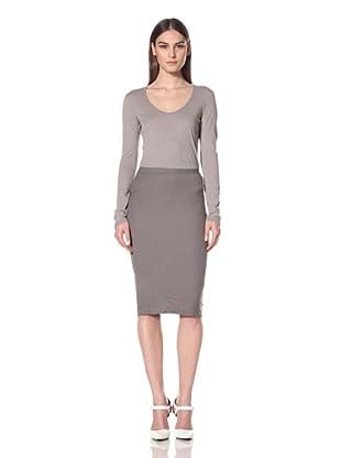 Rick Owens Lilies Women's Basic Pencil Skirt (Dark Dust)