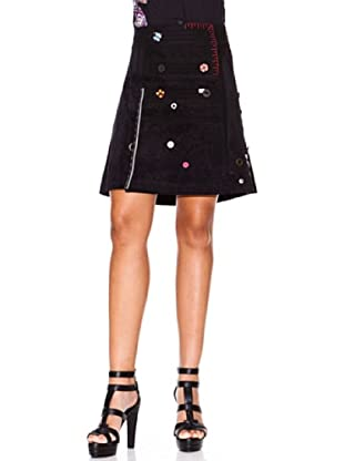 Desigual Falda Buttons-Night (negro)