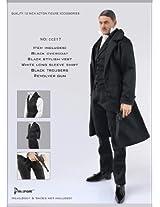 1/6 Action Figure Clothing Black Overcoat Full Set Cc217