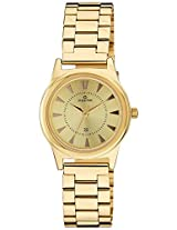 Maxima Analog Gold Dial Women's Watch - 34804CMLY