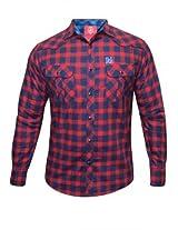 Spykar Men's Red Checks Shirt