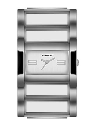 K&BROS 9163-2 / Reloj de Señora  con brazalete metálico plateado