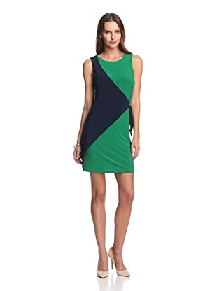 JB by Julie Brown Women's Alexandra Wrap Dress (Navy Green Jersey)