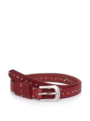 Bed Stu Women's Ruby Skinny Belt (Red)