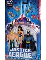 Aquaman Wonder Woman Batman Justice League Unlimited 3 Pack