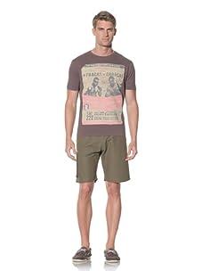 Fresh Men's Printed T-Shirt (Stone)