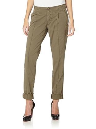 Cross Jeans Pantalón Mia Regular Tapered (Caqui)
