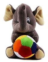 Rushi Enterprise Elephant Cute Teddy Stuffed Soft Plush Soft Toy kids birthday (19 cm)