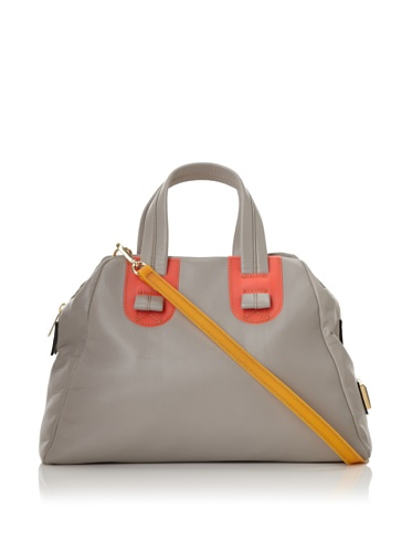 Meredith Wendell Women's Slouchy Fishbowl Small Satchel (Grey)