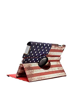 Unotec Hülle 360 iPad 2 / 3 / 4 U.S.A blau/rot
