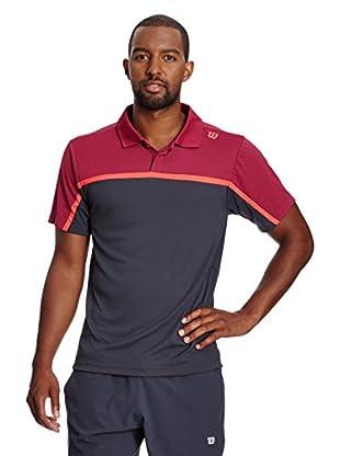 Wilson Poloshirt M Su Colorblock Polo Co