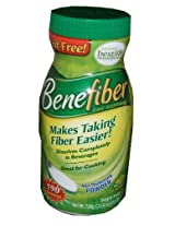 Benefiber 100% Natural Fiber Supplement 25.6 OZ- 190 Servings (2 Pack)