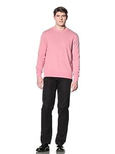 Cruciani Men's Crew Neck Knit Sweater (Pink/Mud)