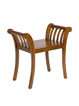 Colonial Style Sitzbank braun