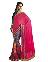 Faux Georgette Saree in Gray Colour for Party Wear
