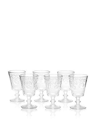 La Rochère Set of 6 Versailles Décor 11.5-Oz. Water Goblets