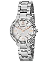 Fossil Virginia Analog White Dial Women's Watch -ES3741