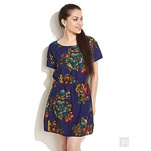 Bold Floral Print Skater Dress