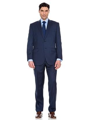 Pedro del Hierro Anzug mit dezentem Muster (Blau)