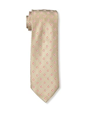 Brioni Men's BR300091 Tie, Beige/Red/Pink