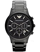 Emporio Armani Black Stainless Steel Analog Men Watch AR2453