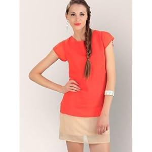 Koovs Tunic Dress With Mega Sleeves