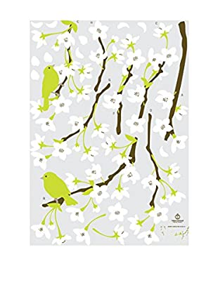 Ambiance Sticker Wandtattoo Pear Tree With Flowers + 15 Swarovski Crystals