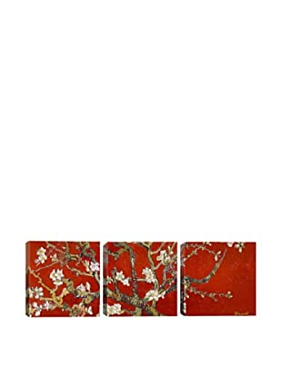 Almond Blossom by Vincent Van Gogh (Panoramic), Red