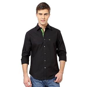 Peter England CSF51305146 Casual Shirt-Black