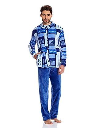 Muslher Pijama Caballero Con Tapeta Rapport Bord (Azul)