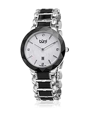 Bürgi Reloj con movimiento cuarzo japonés Woman Silver and Black
