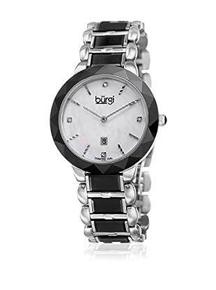 Bürgi Uhr mit japanischem Quarzuhrwerk Woman silberfarben/schwarz 35 mm