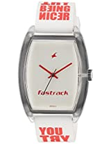 Fastrack Analog White Dial Unisex's Watch - 9947PP03J