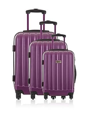 Travel ONE Set de 3 trolleys rígidos Wigan Morado