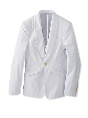 Vivienne Westwood Men's Stripe Blazer with Vest (White/Grey Stripe)